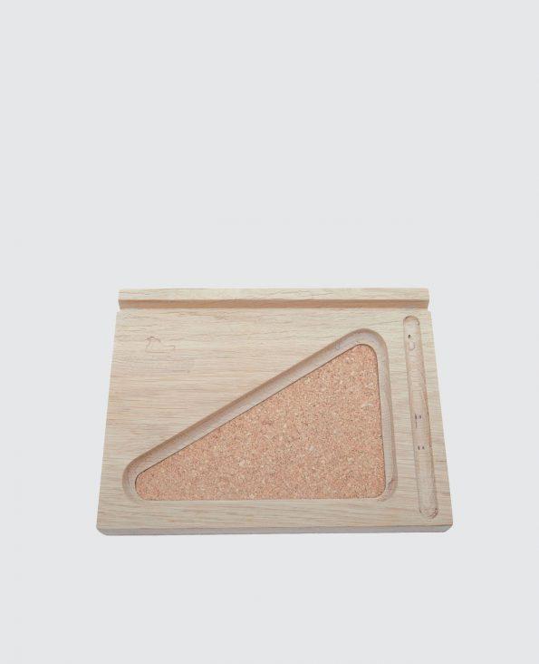 Station tablette bois liège