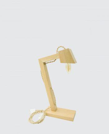 Lampe bois massif Français kraft