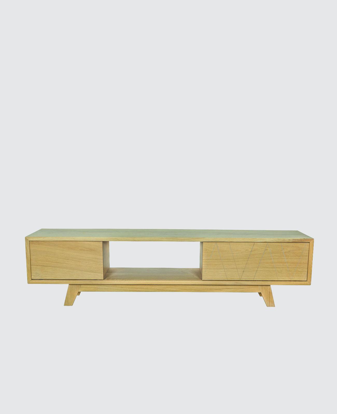 Meuble Tv Bois Massif Fran Ais Scandinave Design Wood Scrap # Les Dimensions D'Un Meuble Tv En Bois