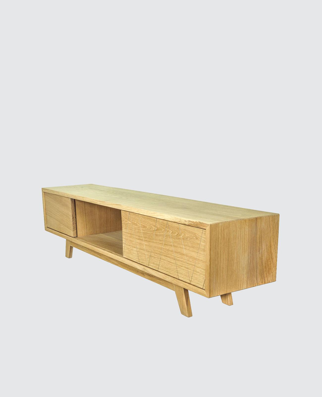 Meuble Tv Bois Massif Fran Ais Scandinave Design Wood Scrap # Meuble Tv Bois