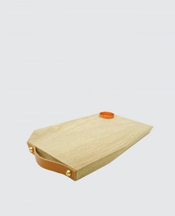 Planche à découper bois massif Français cuir